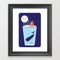 Full Waterglass Moon - N… Framed Art Print