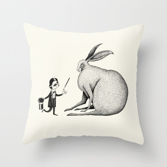 'Black Magic' Throw Pillow
