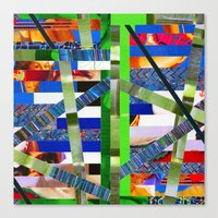 Agnes (stripes 16) Canvas Print