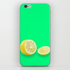 Lonely Sliced Lemon - Bright Spring Green iPhone & iPod Skin