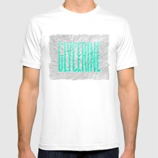 Glycerine Mens Fitted Tee White SMALL