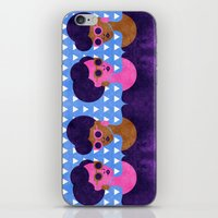 Girls in Purple and Sunglasses iPhone & iPod Skin