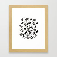 Plastic Jungle Pattern Framed Art Print