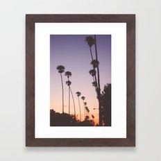 gradient sky Framed Art Print