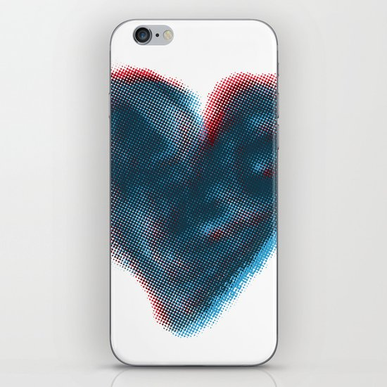 Red and Blue Heart iPhone & iPod Skin