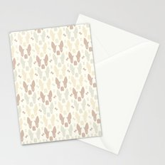 Boston Terrier Wood Pattern Stationery Cards