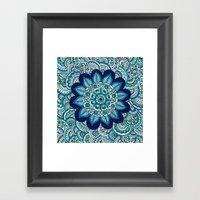 Ocean Flower Framed Art Print