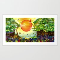 Jungle Of Colors Art Print