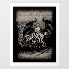 The Rise Of Great Cthulh… Art Print