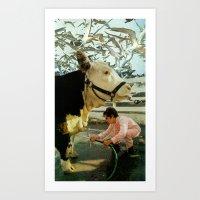 Flocking Art Print