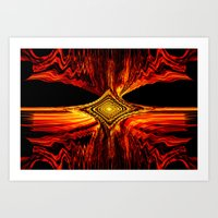 Abstract.Red Flame. Art Print