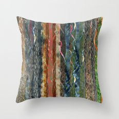 Trunks of Trees Throw Pillow