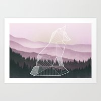 Geometric Nature - Fox (Full) Art Print