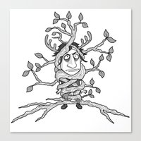 I am one with the tree! Canvas Print