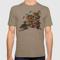 Zelda Mash Up Mens Fitted Tee Tri-Coffee SMALL