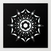 Canvas Print featuring Geometric Flower by Blake Gordon Design