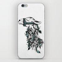 Poetic Llama  iPhone & iPod Skin