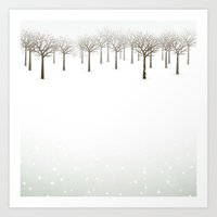 Winter Forest by Friztin Art Print