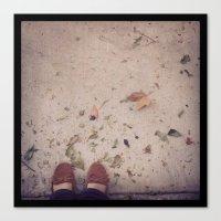 Dead Leaves & Sands Canvas Print