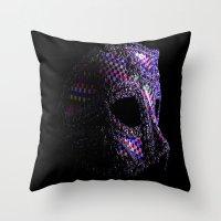 Harlequin Mask Throw Pillow