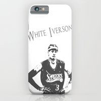 iPhone & iPod Case featuring White Iverson by The Squatcher