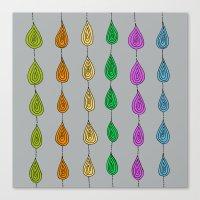 Candy Raindrops Canvas Print