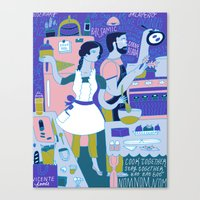 Cook Together Canvas Print