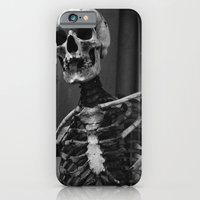skeleton iPhone & iPod Cases featuring Skeleton by Evan Morris Cohen
