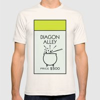 Diagon Alley Monopoly Lo… Mens Fitted Tee Natural SMALL