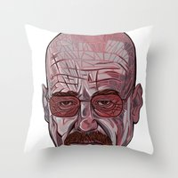 Mister White Throw Pillow