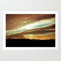 Dawn On The Side Art Print