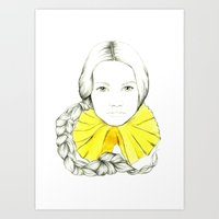 Frill Neck Lady Art Print