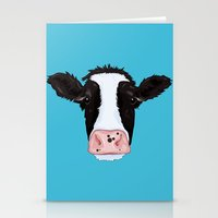 cow Stationery Cards featuring Cow by Compassion Collective