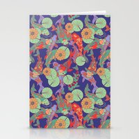 Bright Koi Recolour Stationery Cards