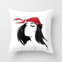 Elektra After Gruau Throw Pillow