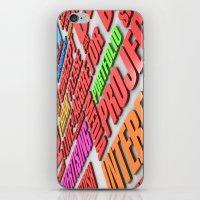 design poster iPhone & iPod Skin