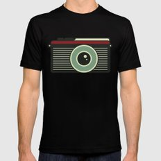 Retro Camera SMALL Mens Fitted Tee Black