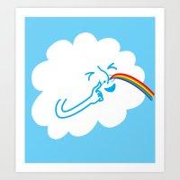 A cloud full of mischief Art Print