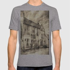 The Bull Pub Theydon Bois Vintage Mens Fitted Tee Athletic Grey SMALL