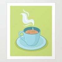 Hot Coffee, Not! Art Print