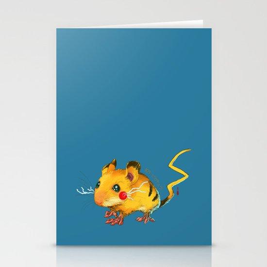 Electric Mouse Stationery Card