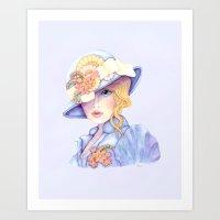Ascot Girl Art Print