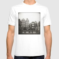 { teeny houses } Mens Fitted Tee SMALL White
