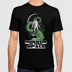 Horror In Deep Space Black SMALL Mens Fitted Tee