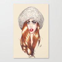 Furr Queen Canvas Print