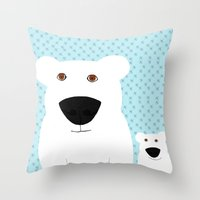 Winter - Polar Bear 2 Throw Pillow