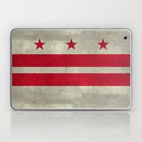 Washington D.C flag with worn stone marbled patina Laptop & iPad Skin