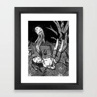 BOY WHO WHISTLES IN HIS SLEEP Framed Art Print