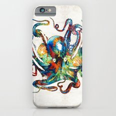 Colorful Octopus Art By … iPhone 6 Slim Case