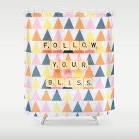 Follow Your Bliss Shower Curtain